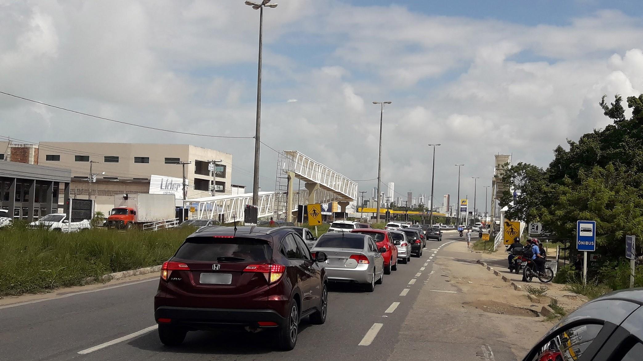 BR-230 tem mudança de tráfego no sentido João Pessoa-Cabedelo a partir desta terça-feira (26)